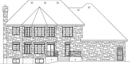 Traditional House Plan 49857 Rear Elevation