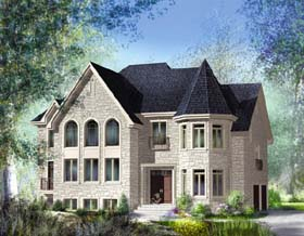 House Plan 49859 | Traditional Style Plan with 4065 Sq Ft, 4 Bedrooms, 4 Bathrooms, 2 Car Garage Elevation