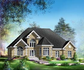 Traditional House Plan 49860 Elevation
