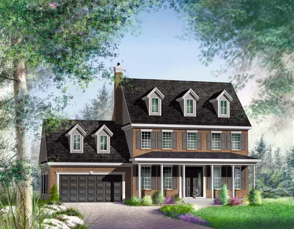 Traditional House Plan 49861 Elevation