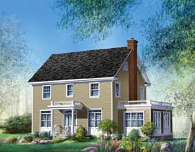 Traditional House Plan 49862 Elevation