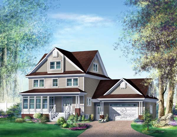 Traditional House Plan 49866 Elevation