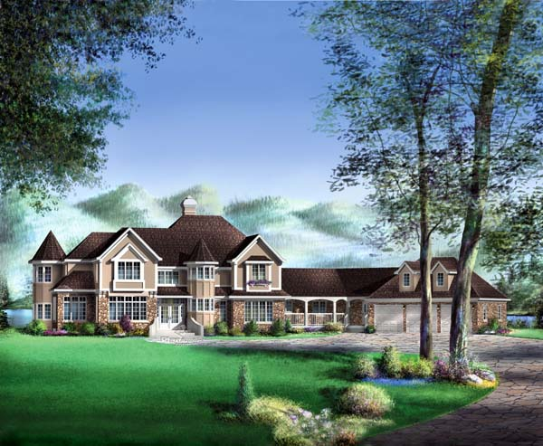 Traditional House Plan 49867 Elevation