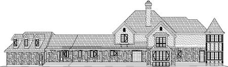 Traditional House Plan 49867 Rear Elevation