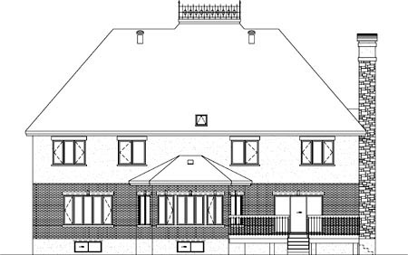 Traditional House Plan 49868 Rear Elevation