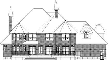 Traditional House Plan 49869 Rear Elevation