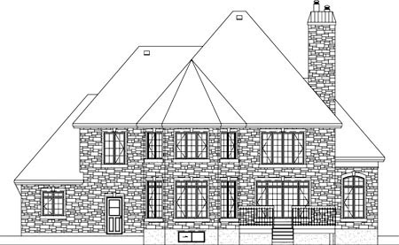 Traditional House Plan 49870 Rear Elevation