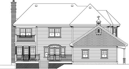 Traditional House Plan 49873 Rear Elevation