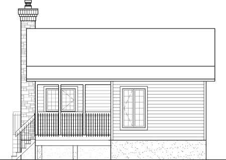 Traditional Rear Elevation of Plan 49874