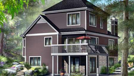 Traditional House Plan 49878 Rear Elevation