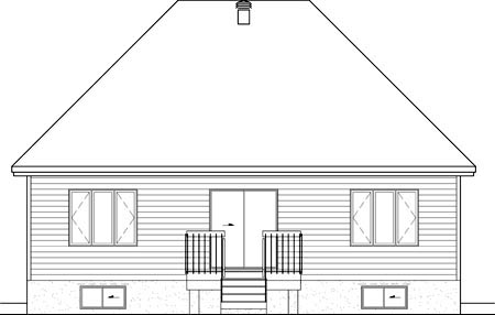 House Plan 49880 Rear Elevation