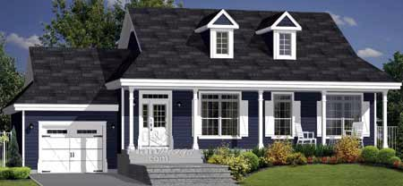 House Plan 49881 Elevation