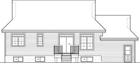 House Plan 49881 Rear Elevation