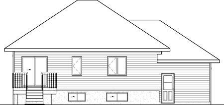 House Plan 49882 Rear Elevation