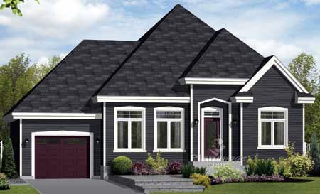 House Plan 49883 Elevation