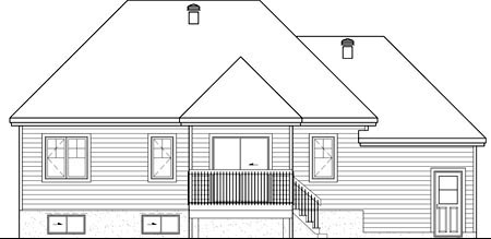 House Plan 49884 Rear Elevation