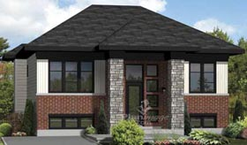 House Plan 49885 | Style Plan with 900 Sq Ft, 2 Bedrooms, 1 Bathrooms Elevation