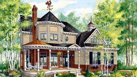 House Plan 49886   Style Plan with 2282 Sq Ft, 3 Bedrooms, 3 Bathrooms, 2 Car Garage Elevation