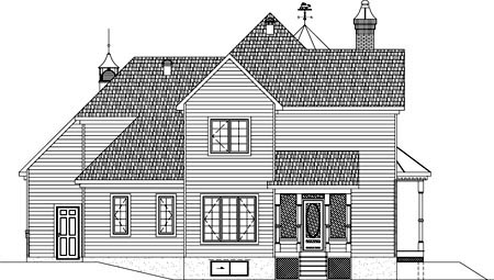 House Plan 49886 Rear Elevation
