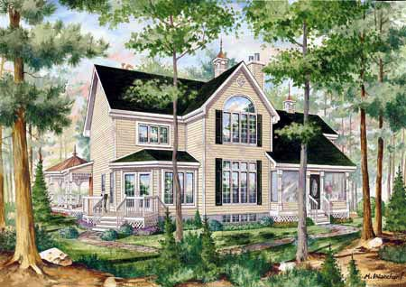 House Plan 49887 Rear Elevation