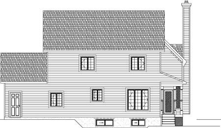 House Plan 49888 Rear Elevation