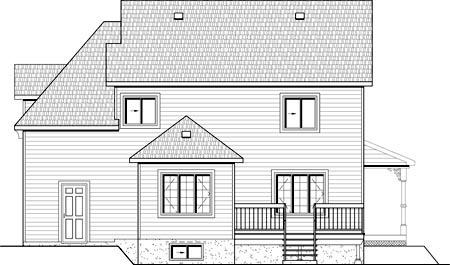 House Plan 49890 Rear Elevation
