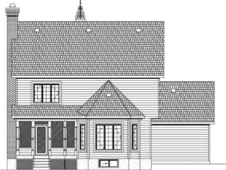House Plan 49891 Rear Elevation