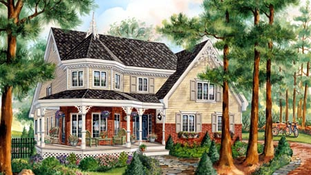House Plan 49893 with 3 Beds, 2 Baths, 1 Car Garage Elevation