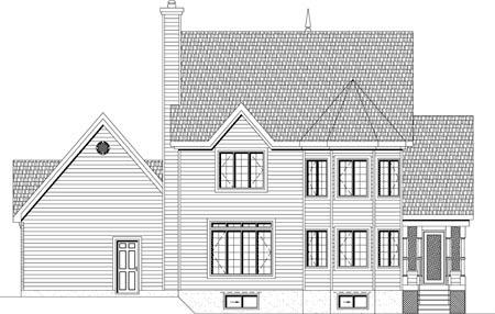 House Plan 49894 Rear Elevation