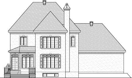 House Plan 49895 Rear Elevation