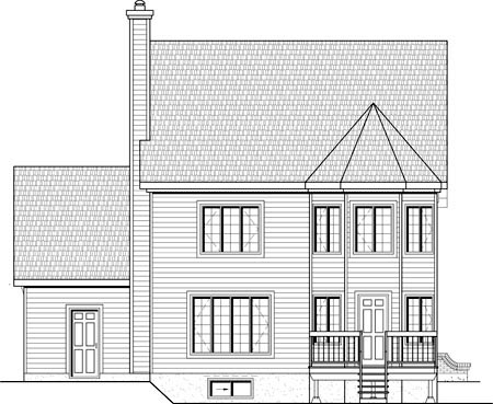 House Plan 49897 Rear Elevation
