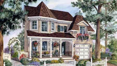 House Plan 49899 with 3 Beds, 2 Baths, 1 Car Garage Elevation