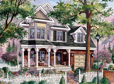 House Plan 49900 with 3 Beds, 2 Baths, 1 Car Garage Elevation