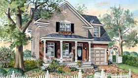 House Plan 49901 with 3 Beds, 2 Baths, 1 Car Garage Elevation