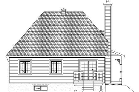 House Plan 49903 Rear Elevation