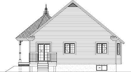 House Plan 49904 Rear Elevation