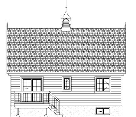 House Plan 49905 Rear Elevation