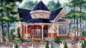 House Plan 49906 | Style Plan with 1006 Sq Ft, 2 Bedrooms, 1 Bathrooms Elevation
