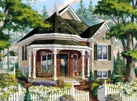 House Plan 49907 with 1 Beds, 1 Baths Elevation