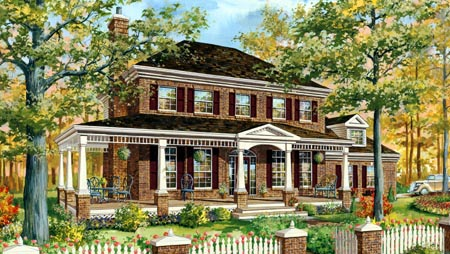 House Plan 49909 Elevation