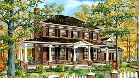 House Plan 49910 | Style Plan with 2371 Sq Ft, 2 Bedrooms, 2 Bathrooms, 2 Car Garage Elevation