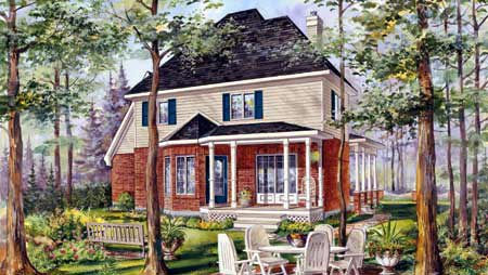 House Plan 49912 Rear Elevation