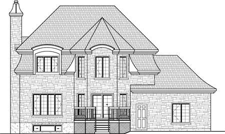 House Plan 49913 Rear Elevation