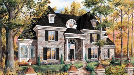 House Plan 49914 Elevation