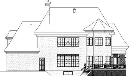 House Plan 49914 Rear Elevation