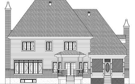House Plan 49915 Rear Elevation