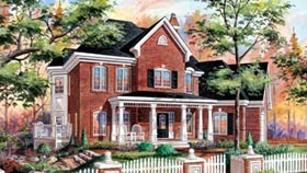 House Plan 49916 | Style Plan with 2373 Sq Ft, 3 Bedrooms, 3 Bathrooms, 1 Car Garage Elevation