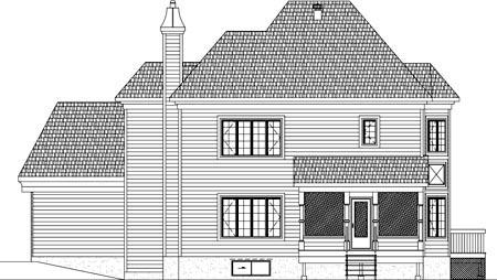 House Plan 49916 Rear Elevation
