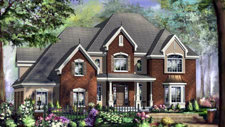 House Plan 49918 Elevation