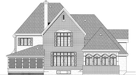 House Plan 49918 Rear Elevation